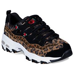 Skechers D'Lites Leopard Rose Women's Sneakers