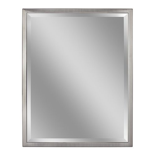 Head West Classic Brush Nickel Wall Mirror