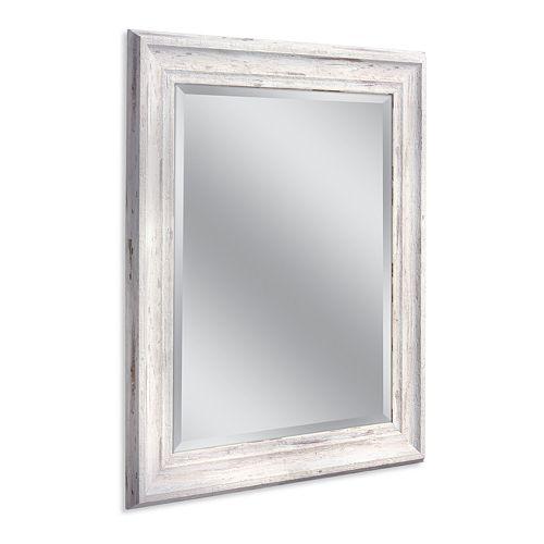 Head West Farmhouse White Wall Mirror
