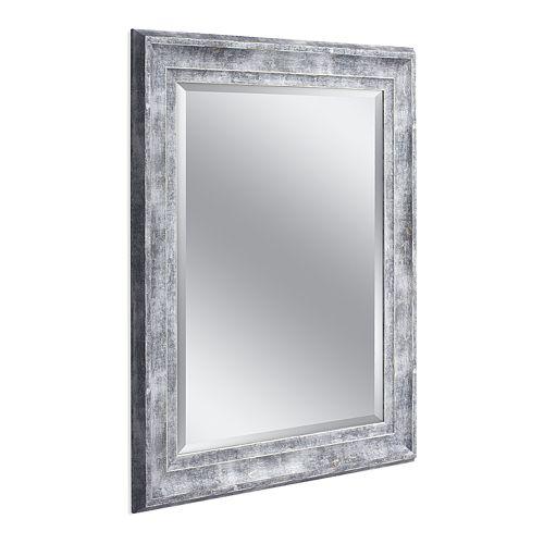 Head West Farmhouse Gray Wall Mirror