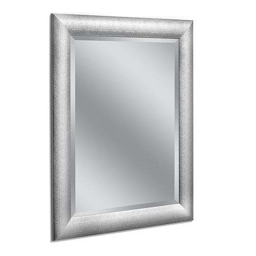 Head West Hammered Chrome Wall Mirror