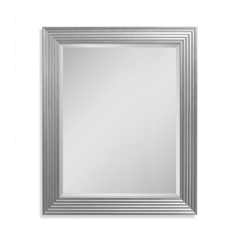 Head West Silver Fluted Gallery Wall Mirror