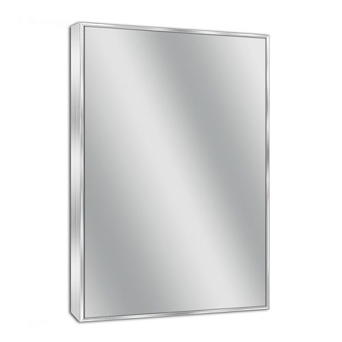 Head West Spectrum Brushed Nickel Wall Mirror