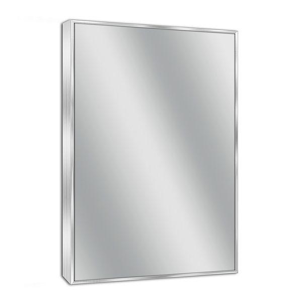 Head West Spectrum Brushed Nickel Wall, Brushed Stainless Bathroom Mirror
