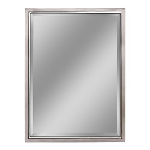 Head West Classic Brushed Nickel Chrome Wall Mirror