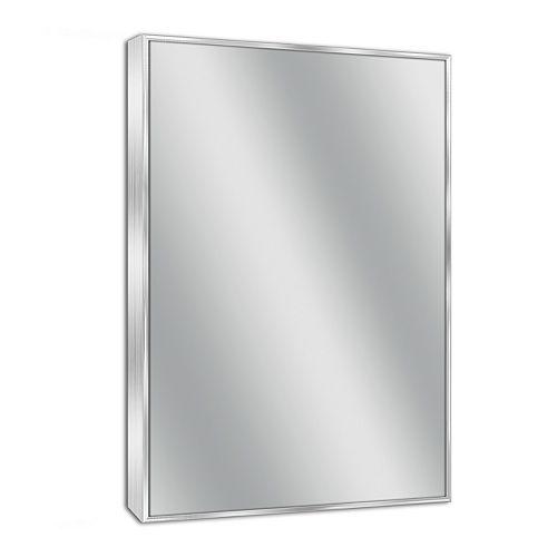 Head West Euro Spectrum Brushed Nickel Wall Mirror