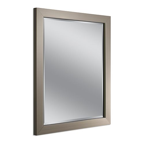 Head West Modern Brushed Nickel Wall Mirror