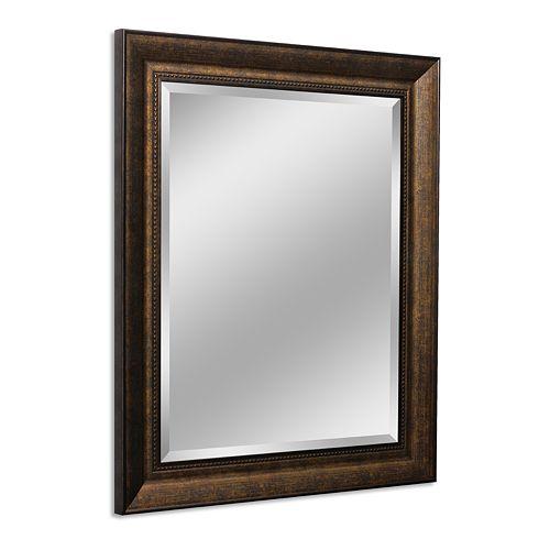 Head West Copper Beaded Wall Mirror