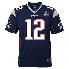 Boys 8-20 Nike New EnglandPatriots Tom Brady Super Bowl LIII Jersey