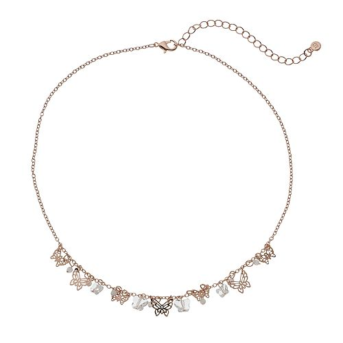 Womens LC Lauren Conrad Filigree Butterfly Necklace