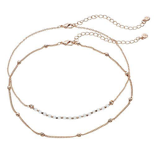 LC Lauren Conrad Beaded Choker Necklaces