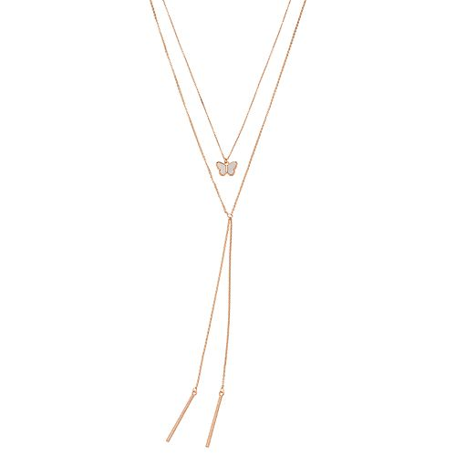 LC Lauren Conrad Butterfly Y-Neck Necklace