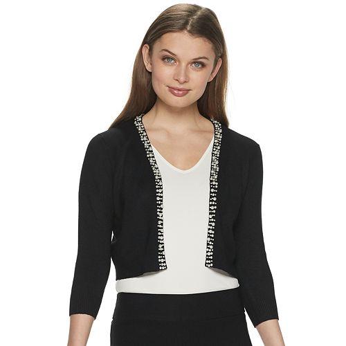 Women's Apt. 9® 3/4 Sleeve Pearl Shrug