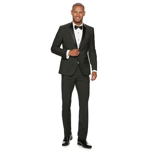 Men's Nick Graham Slim-Fit Black Pindot Tuxedo
