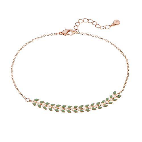 LC Lauren Conrad Enamel Arrow Chain Anklet