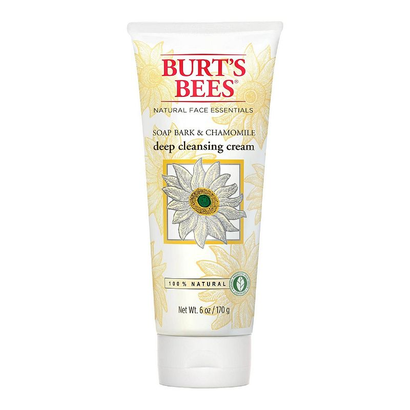 Gently clean and soften your skin with Burt\'s Bees Soap Bark and Chamomile Deep Cleansing Cream. This deep cleansing cream is formulated with natural soap bark to gently remove dirt, excess oil and makeup. Infused with chamomile and aloe to soften skin. Contains a hint of menthol, known for its cooling properties, to cool and revitalize skin. It\'s 99.9% natural and contains no parabens, phthalates or petrolatum. Leaves your skin looking beautiful and naturally healthy. Paraben-free Phthalate-free Sulfate-free 6 oz. Size: One Size. Color: Multicolor. Gender: female. Age Group: adult.