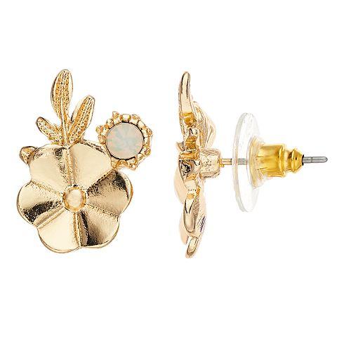 Women's Lauren Conrad Cluster Flower Button Earrings
