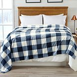 Buffalo Check Printed Velvet Blanket