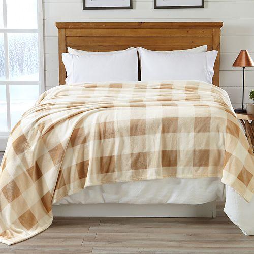 Buffalo Check Printed Velvet Blanket