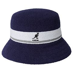 4ee42b331c790 Men s Kangol Bermuda Striped Bucket Hat. Scarlet Black Navy