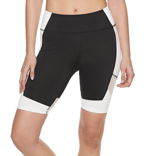 Women's FILA SPORT® Mesh Panel Bike Shorts