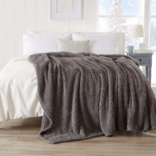 Sherpa Solid Knitted Blanket