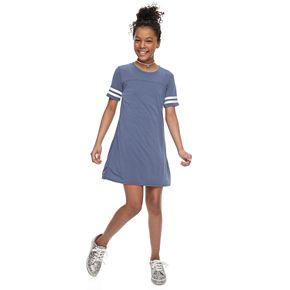 Girls' Pink Republic Solid Varsity T-Shirt Dress