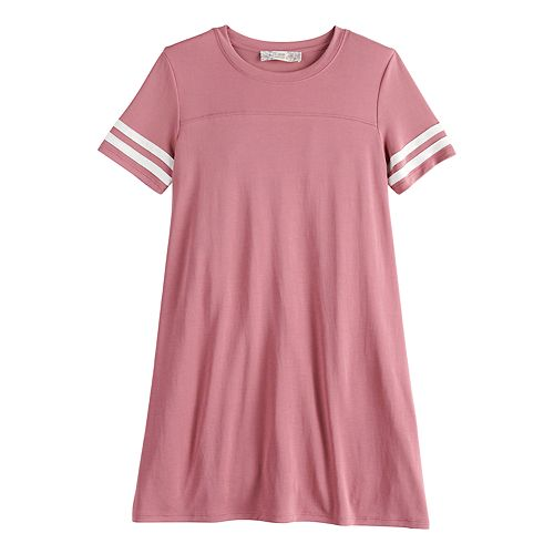 Girls' Pink Republic Solid Varsity T-Shirt Dress