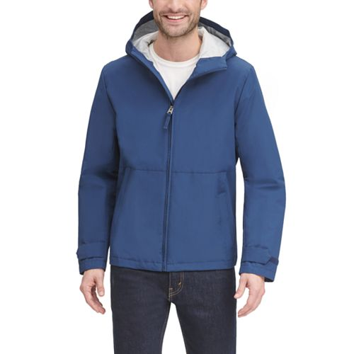 Men's Dockers® Water-Resistant Hooded Rain Jacket