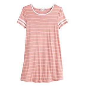 Girls' Pink Republic Striped T-Shirt Varsity Dress