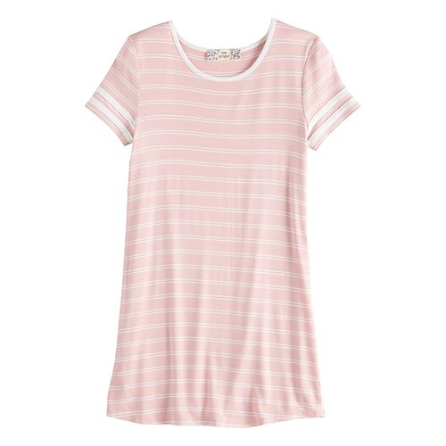 Girls' Pink Republic Striped T-Shirt Varsity Dress