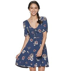 Junior's American Rag Short Sleeve Skater Dress