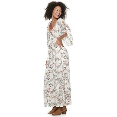 Juniors' American Rag Lace Up Maxi Dress