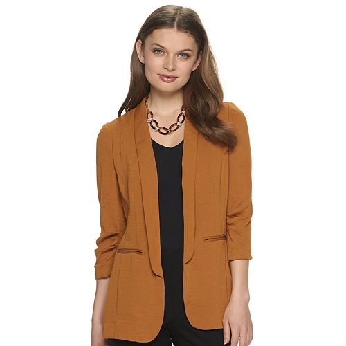 Women's Apt. 9® Shawl-Collar Pleat-Sleeve Blazer