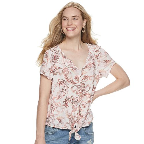 Women's SONOMA Goods for Life™ Knot Front Top