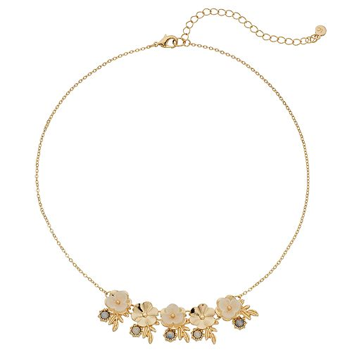 Women's Lauren Conrad Flower Cluster Statement Necklace