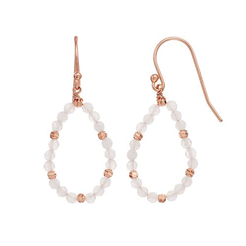 R LIM Stone Beaded Teardrop Earrings