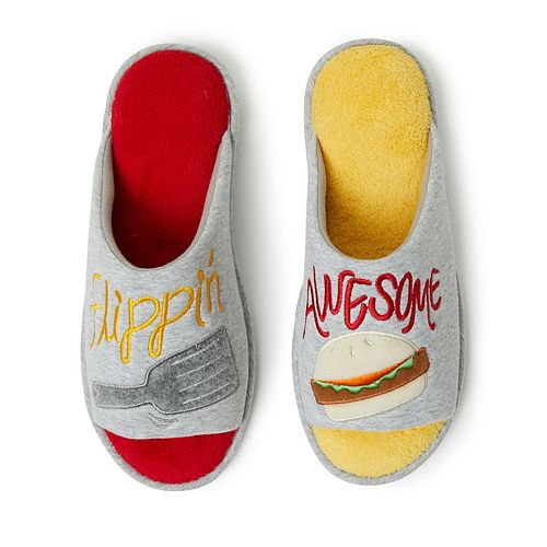 "Men's Dearfoams ""Flippin' Awesome"" Open-Toe Scuff Slippers"