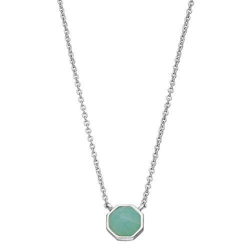 R LIM Octagon Stone Necklace