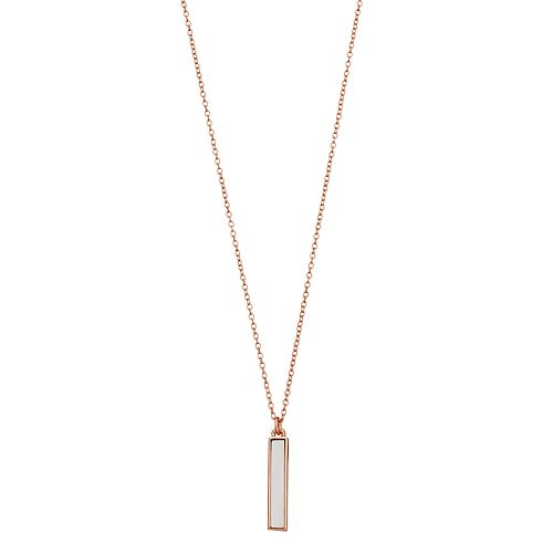R LIM Stone Bar Necklace