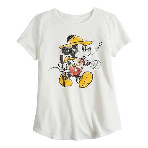 ​Disney's ​Mickey Mouse Girls 7-16 Parks Graphic Tee by Family Fun™
