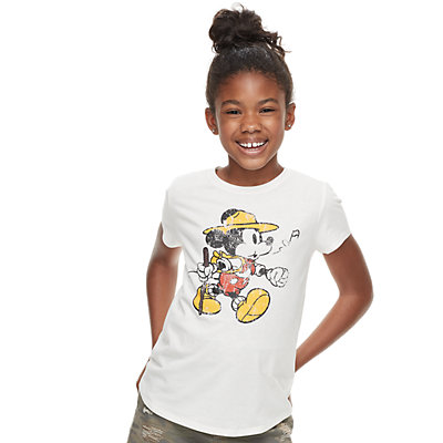 ?Disney's ?Mickey Mouse Girls 7-16 Parks Graphic Tee by Family Fun