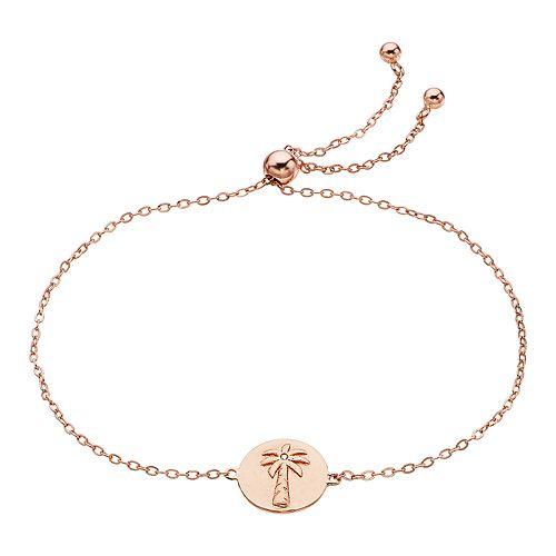 Rachel Lim Rose Gold Round Palm Tree Bolo Bracelet