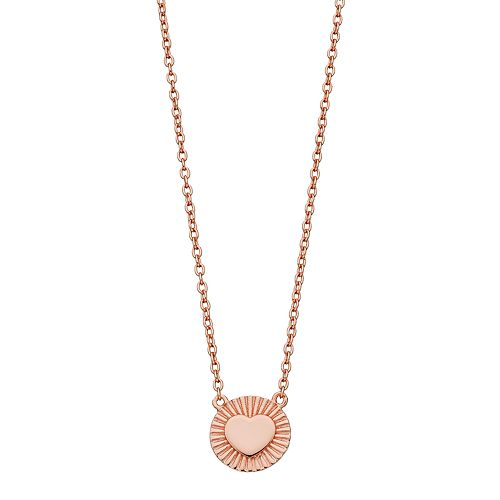 R LIM Round Heart Pendant Necklace