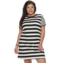 NEW! Juniors' Plus Size SO® Easy Tee Shirtdress