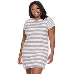 b501d61e690 Juniors  Plus Size SO® Easy Tee Shirtdress