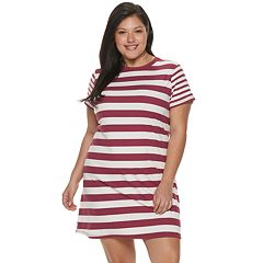 NEW! Juniors' Plus Size SO® Easy Tee Shirtdress