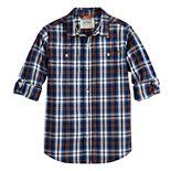 Boys 8-20 Urban Pipeline? Plaid Button-Down Tab-Sleeve Shirt