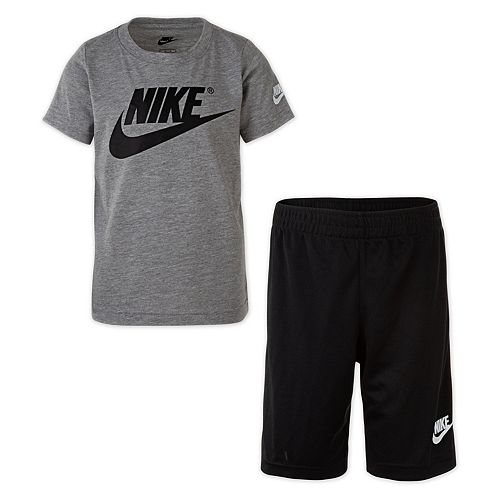 Boys 4-7 Nike Logo Graphic Tee & Shorts Set