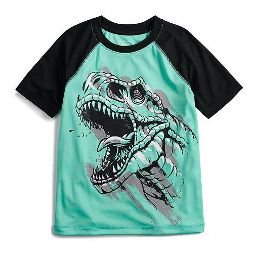 Boys 4-12 Jumping Beans® Hi-Low Dinosaur Raglan Active Tee